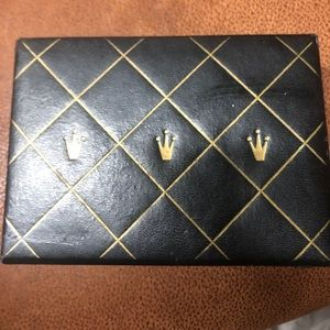 Rolex Watch Box Vintage Black and Gold